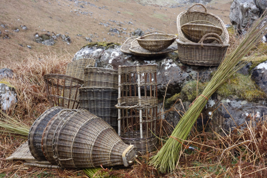 Willow baskets made on Eigg for Outlander