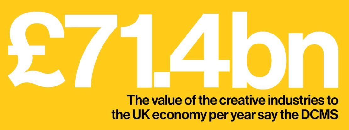 £71.4bn: the value of the creative industries to the UK economy per year