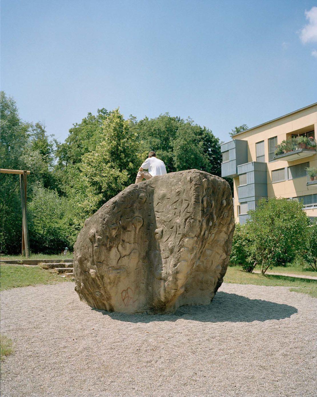Sculpture outside the Green City Hotel in Vauban