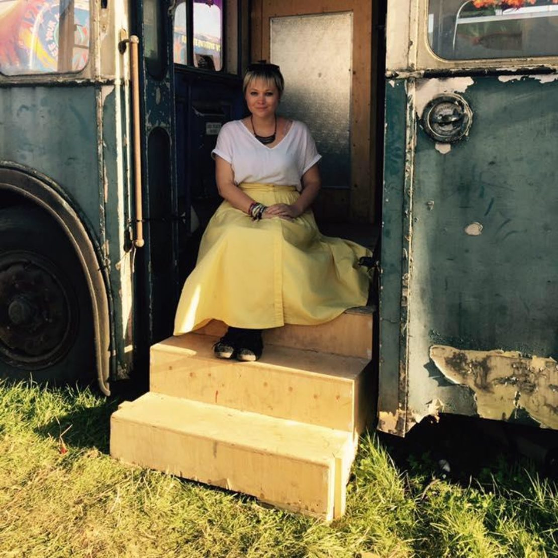 Louise De  Winter Hosting  Death  Cafe At  Bestival