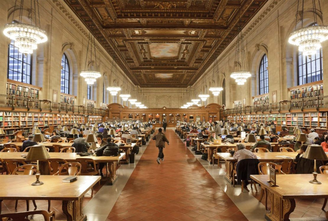 The Rose Main Reading Room at the NYPL