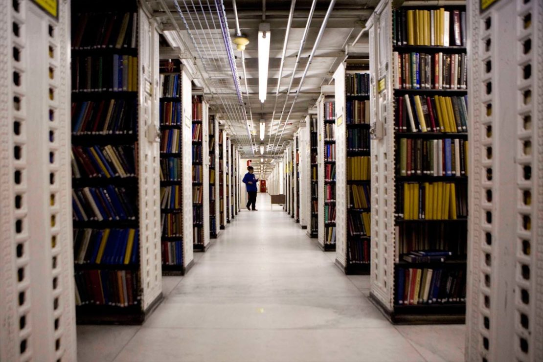 The stacks in the lower depths of the NYPL