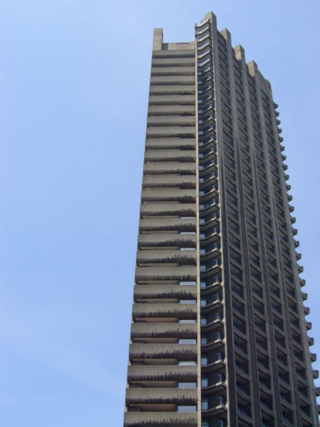 One of the residential towers in the Barbican, London