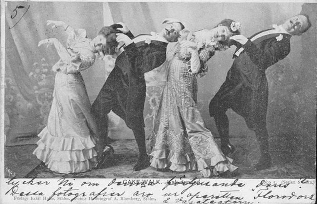 """ragtime music and cakewalk dance Early jazz was dance music it is marked """"marcia moderato"""" again linking cakewalk/ragtime music to the march and the brass band."""