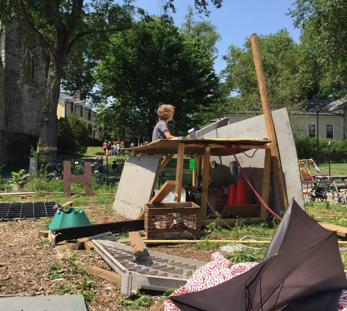 The junk playground where children run with scissors