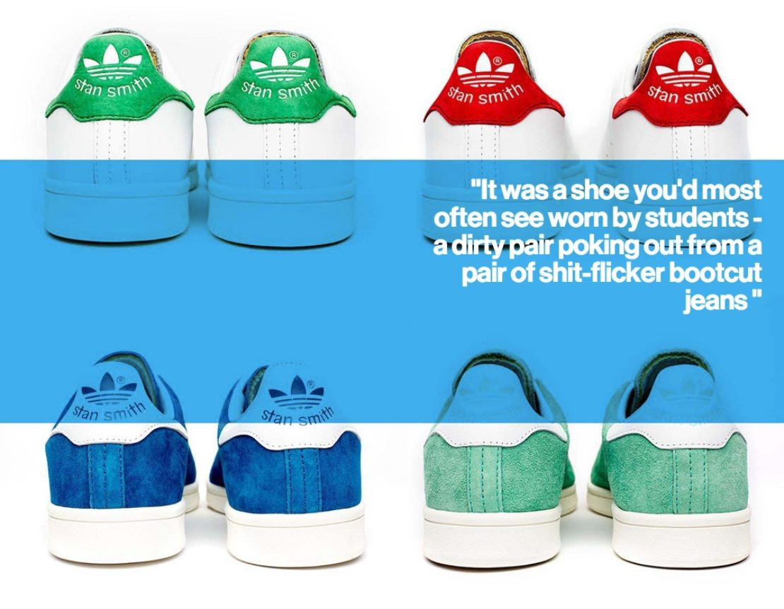 Stan Smith shoes in their different designs and colourways
