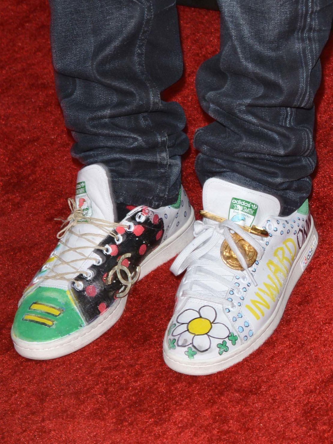 Limited edition Stan Smith shoes customised by Pharrell Williams