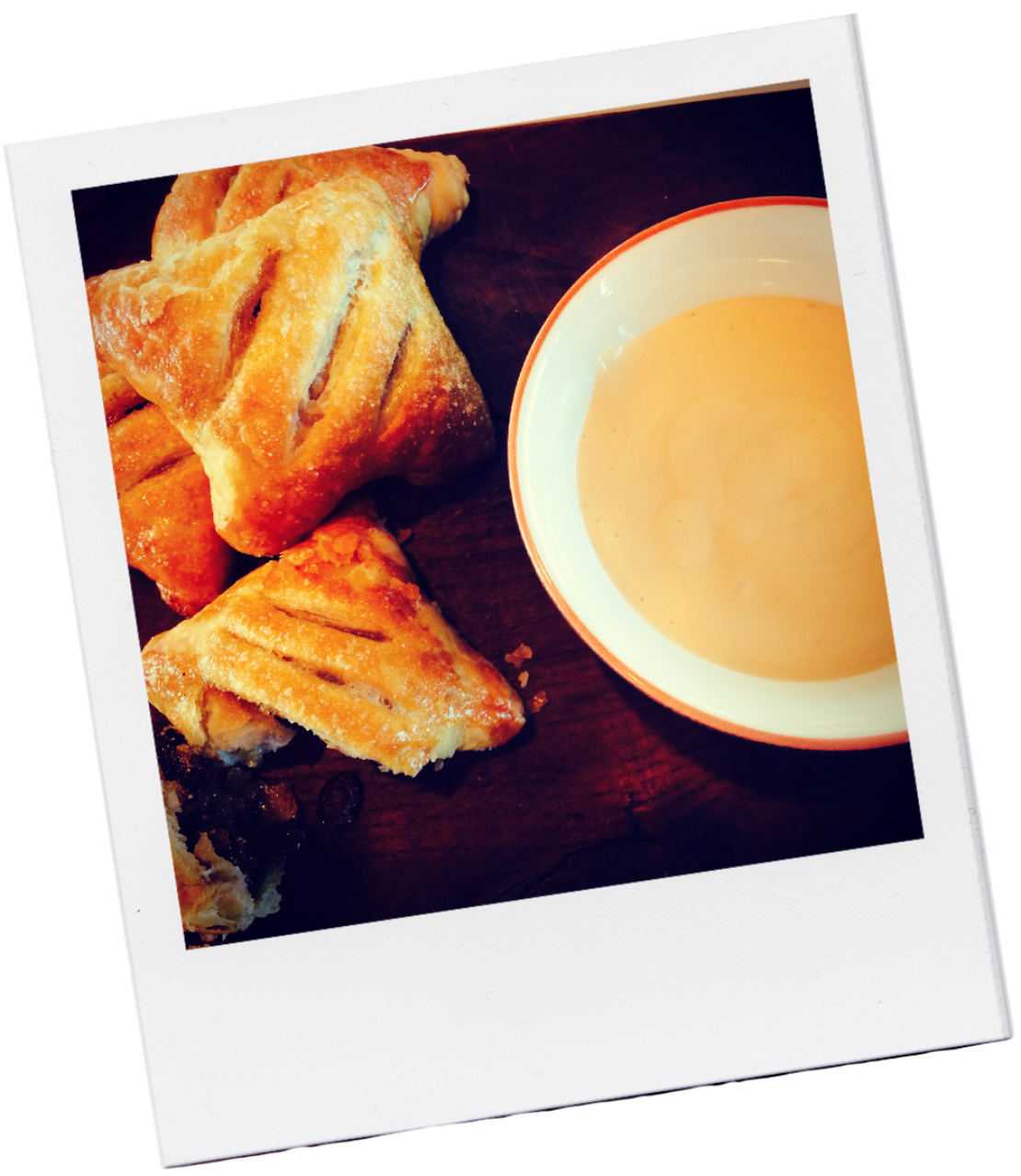 Eccles cakes and Earl Grey custard
